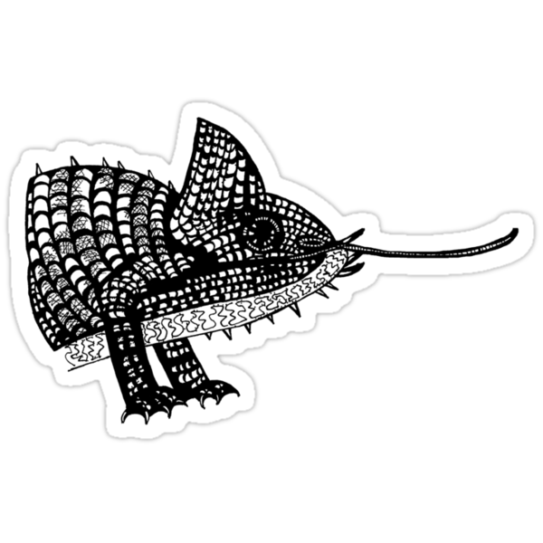Chameleon Lizard T-Shirt Illustration / design / drawing. by CDCcreative