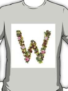 Capital Letter W Part of a set of letters, Numbers and symbols  T-Shirt