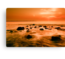 ocean and sunset Canvas Print
