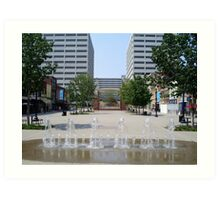 Market Square Knoxville Tennessee (color) Art Print