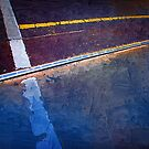 Tram Track in Blue by Frank  McDonald