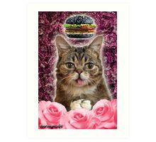 Burger BB Bub Art Print