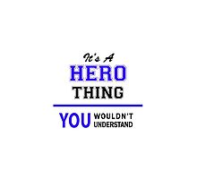 It's a HERO thing, you wouldn't understand !! by thenamer