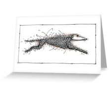 Running from chemo Greeting Card