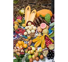 A selection of edible tropical fruit  Photographic Print