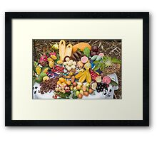 A selection of edible tropical fruit  Framed Print