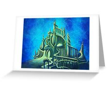 Mysterious Fathoms Below (New BG) Greeting Card