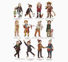 The Twelve Doctors of Christmas Kids Clothes