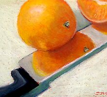 Oranges and Knife by Joyce Geleynse