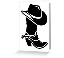 Cowboy boot hat Greeting Card