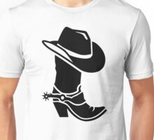Cowboy boot hat Unisex T-Shirt