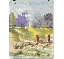 Two fence poles iPad Case/Skin