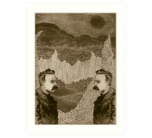 Nietzsche, Meet Nietzsche (In the Black Forest) Art Print