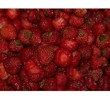 Fresh Delicious Strawberries Photographic Print