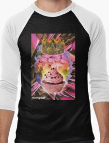 QUEEN CUPCAKE Men's Baseball ¾ T-Shirt