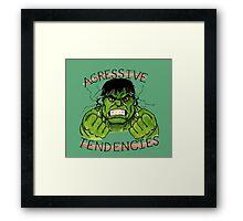 The Incredible Hulk Tattoo Flash Framed Print