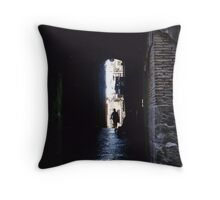 Alley In Naples Throw Pillow