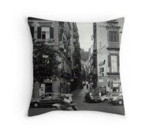 Street shot in Naples, Italy Throw Pillow