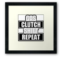 Gas clutch shift repeat Framed Print