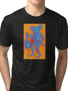 Killer Mouse Mascot (Sunburst Bizarro Variant) Tri-blend T-Shirt
