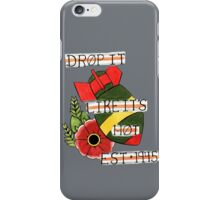 Bomb and Rose Tattoo Flash iPhone Case/Skin