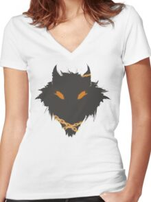 SMITE - Fenrir Simple Women's Fitted V-Neck T-Shirt