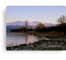 Winter Paradise... - Sunrise Wanaka - NZ Canvas Print