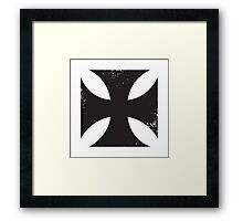 Iron cross in black. Framed Print