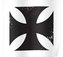 Iron cross in black. Poster