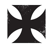 Iron cross in black. Photographic Print