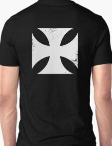 Iron cross in white. Unisex T-Shirt
