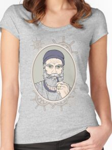 Salty Sea Dog Women's Fitted Scoop T-Shirt