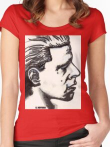 Profile of Man Women's Fitted Scoop T-Shirt
