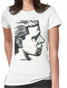 Profile of Man Womens Fitted T-Shirt
