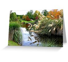 Nature's Autumn Painting Reflected - New Zealand Greeting Card