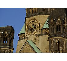 Clock at the memory church in Berlin Germany Photographic Print
