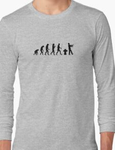 the real human evolution Long Sleeve T-Shirt