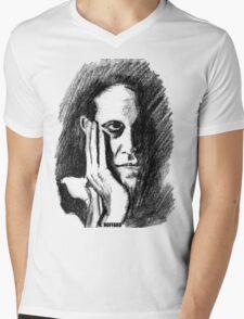 Pondering Man Mens V-Neck T-Shirt