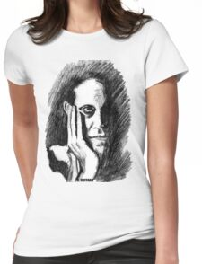 Pondering Man Womens Fitted T-Shirt