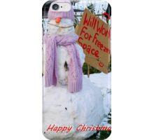 Alex's Snow Person! iPhone Case/Skin