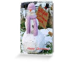 Alex's Snow Person! Greeting Card
