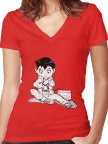 Atom Women's Fitted V-Neck T-Shirt