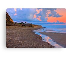 Tranquility. A section in Bacara Beach in Santa Barbara California Canvas Print