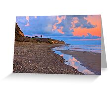 Tranquility. A section in Bacara Beach in Santa Barbara California Greeting Card