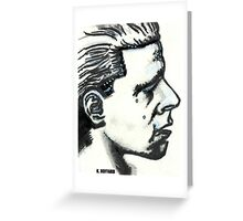 Profile of Man Greeting Card
