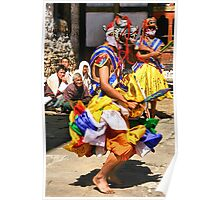Mask Monk Dancers, Tashiling Festival, Eastern Himalayas, Central Bhutan  Poster