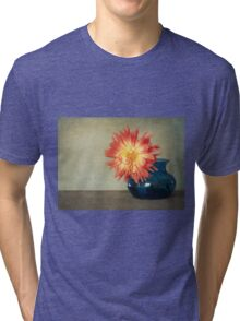 Orange Dahlia Tri-blend T-Shirt