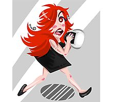 Crazy red head Photographic Print