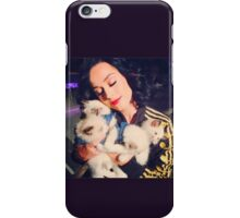 Katy With Her Kitty Kats iPhone Case/Skin