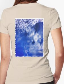 Cloudy Womens Fitted T-Shirt